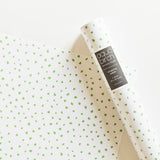 Brush Dots in Lime Wrapping Paper