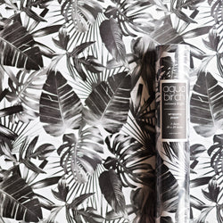 Tropical Leaf Monotone Wrapping Paper