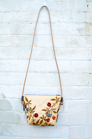 Silk Flowers Leather cross-body bag
