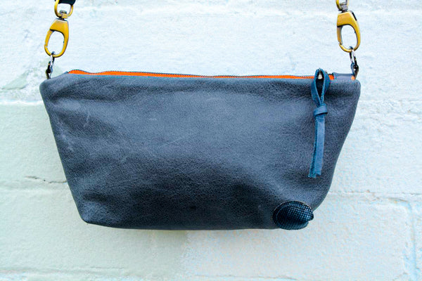 Grey Tones Leather Shoulder bag
