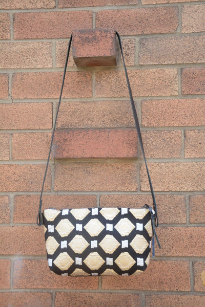 Vintage Metallic Brocade Shoulder Bag