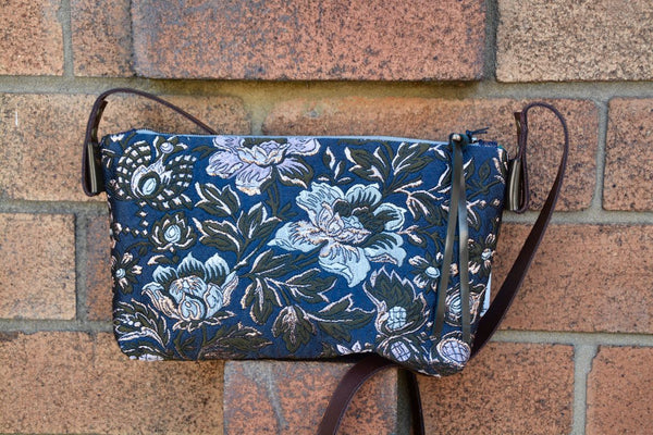 Designer Metallic Brocade Shoulder Bag