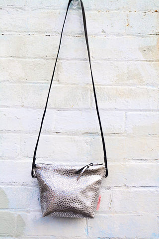 Sparkle! Silver cross-body bag