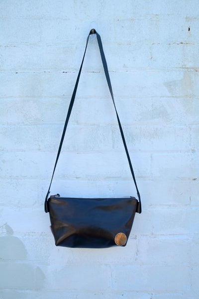 Gold Flecks Leather Bag