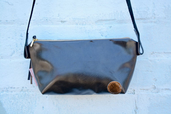Silver and Gold Leather Bag