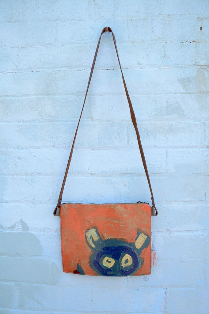 Blue Man Original painting by artist Digby Webster shoulder bag
