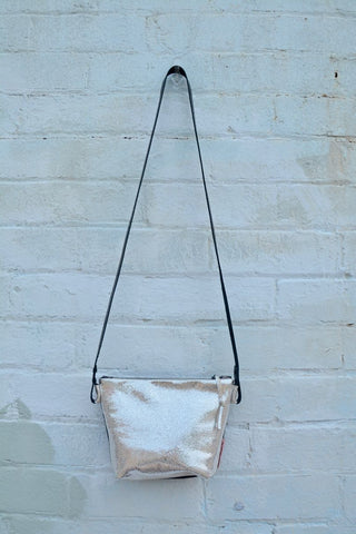 Another Sparkle! Silver cross-body bag
