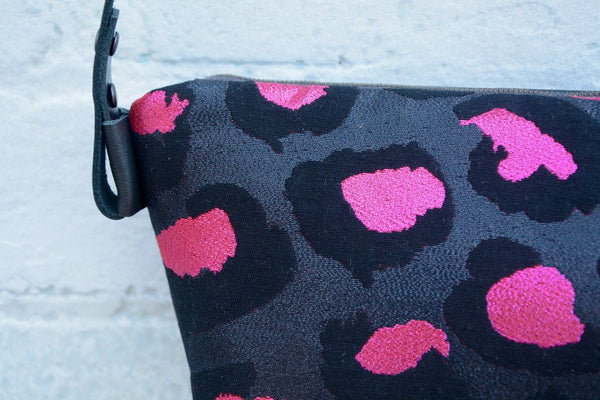 Pink Metallic Leopard Shoulder Bag