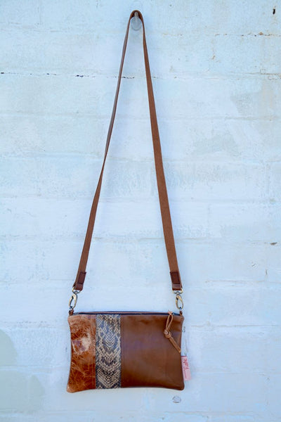 Another Brown Tones Leather small cross-body bag