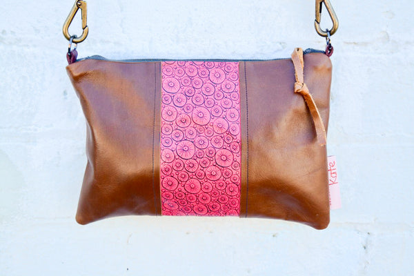 Bubbles - Hand-Drawn Leather small cross-body bag