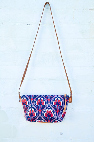 Navy and Red Floral Bec & bridge Fabric Shoulder Bag