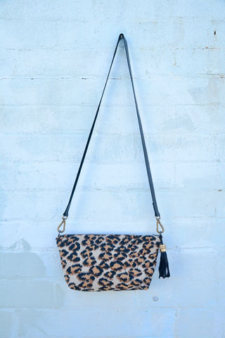 Leopard Print Shoulder Bag Medium