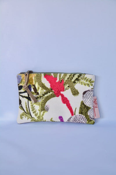 Botanical Print and Leather Bag Gift set