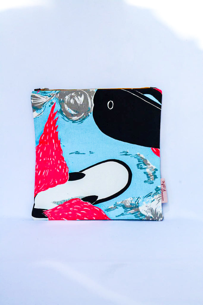 Flying Thongs - original 80s Mambo Screen Print Clutch/ iPad Bag
