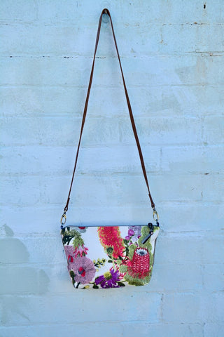 Australian Botanical Print Shoulder Bag Large