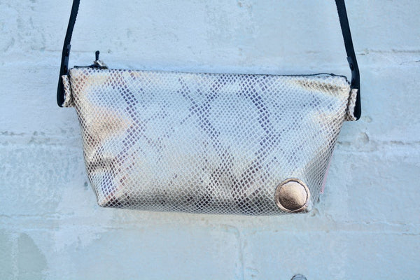 Mermaid Snake-print Leather Shoulder Bag