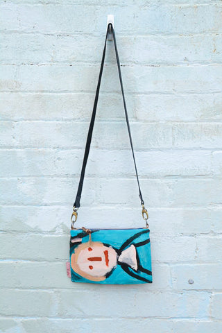 'Blondie' Original Painting by artist Digby Webster Cross Body bag
