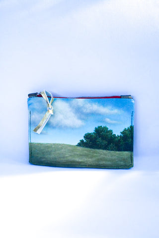 Tree and Sky- original oil panting Leather Purse