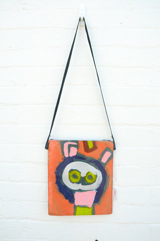 Green Eyes Original painting by artist Digby Webster shoulder bag