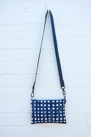 Grid Leather small cross-body bag