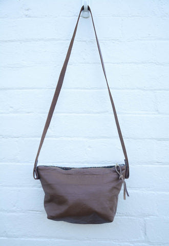 Re-Purposed Brown Sleeve Shoulder Bag