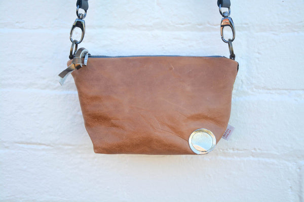 Brown and Purple Reflections Pouch Shoulder Bag