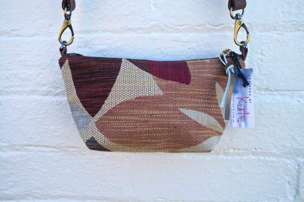 Upholstery Leaves Pouch Shoulder Bag