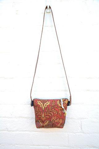 Floral Rust Shoulder/cross-body bag