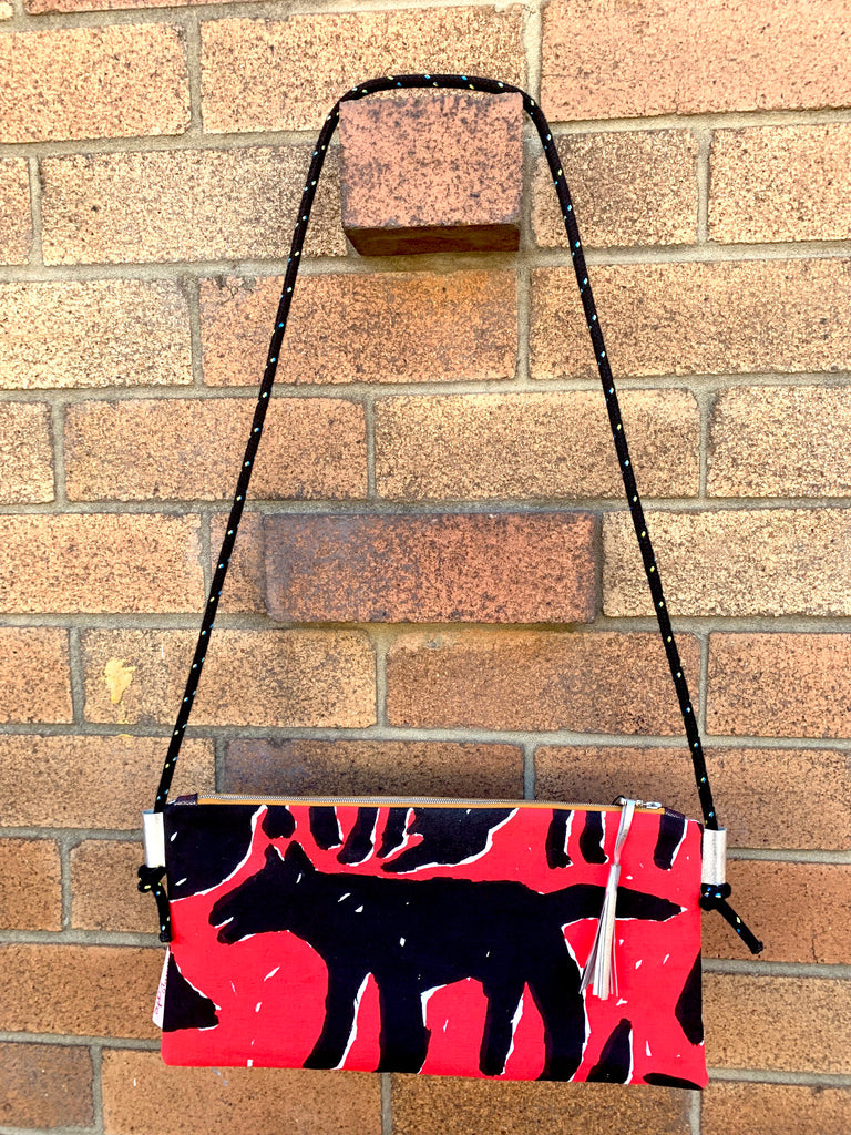 Rare Black Dog 1980s Mambo screen print shoulder bag