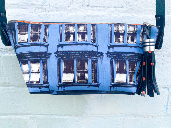 Blue Hibernian Leather Shoulder Bag