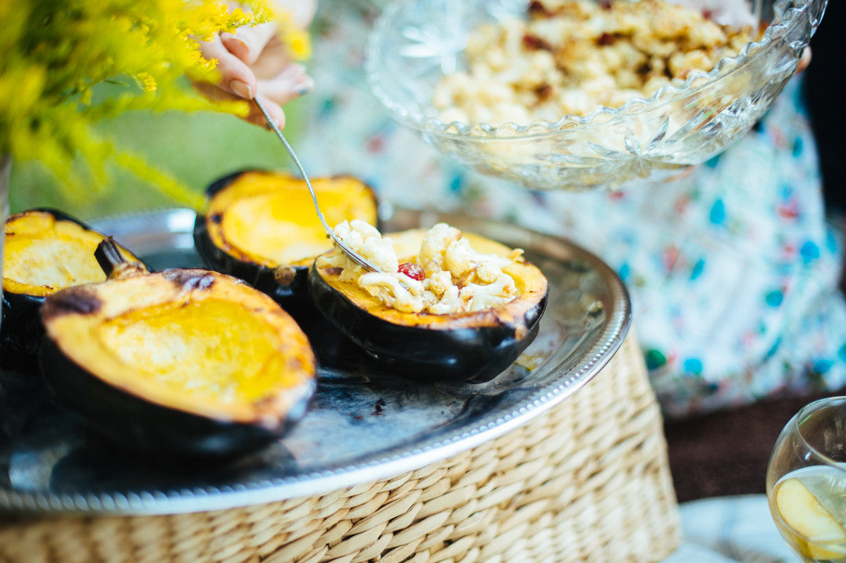 Stuffed Acorn Squash with Cauliflower