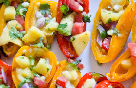 Stuffed Mini Sweet Pepper Appetizers - A Way to Wow for the World Cup