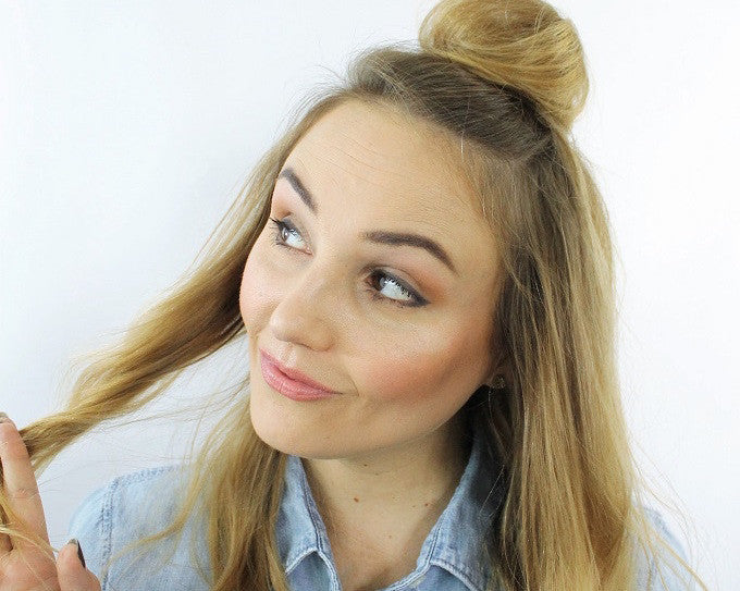 The Perfect Messy Half-up Bun (In Under Five Minutes)