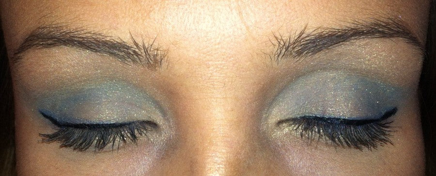 Cool Breeze shadow + black liquid liner