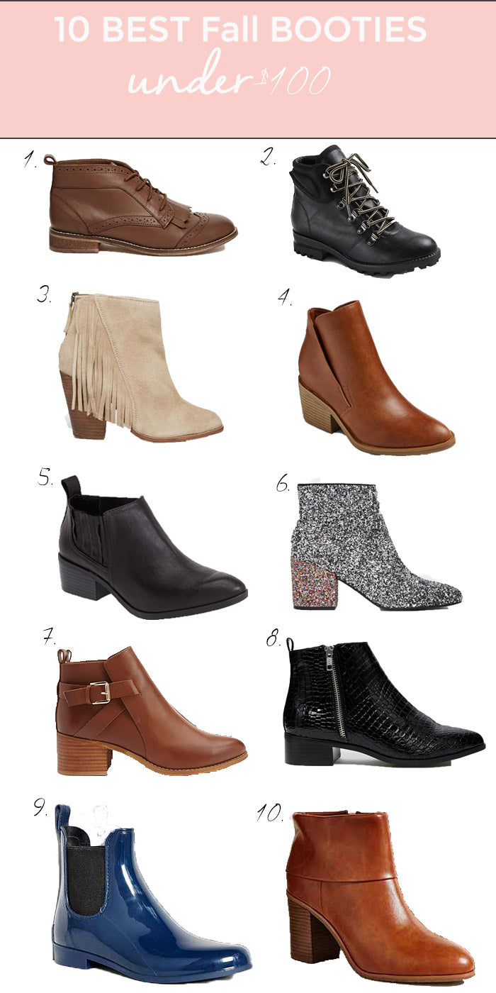 10 best fall booties under $100