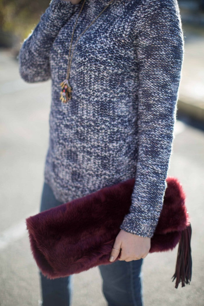 fur clutch hello luvvy