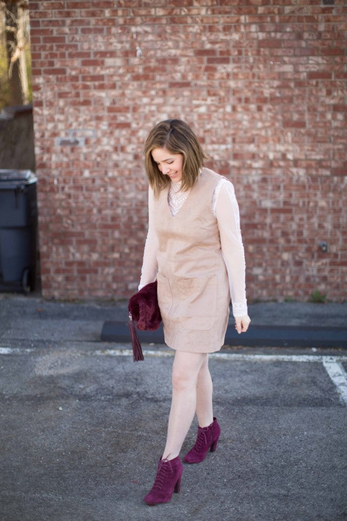 suede shift dress hello luvvy