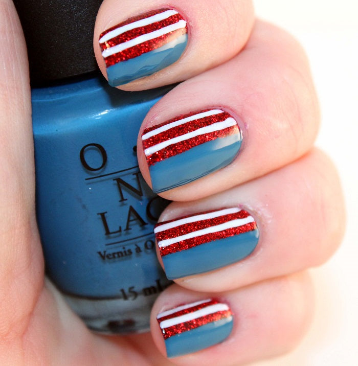 4th of july nails_my latest obsession