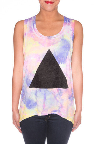 Chaser tie dye pyramid tank