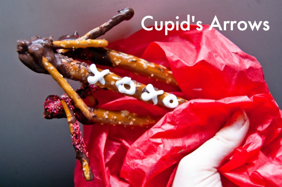 CupidsArrows, Dipped Pretzels, Chocolate Pretzels, Valentines Treat, Valentines Candy, Valentines Gifts