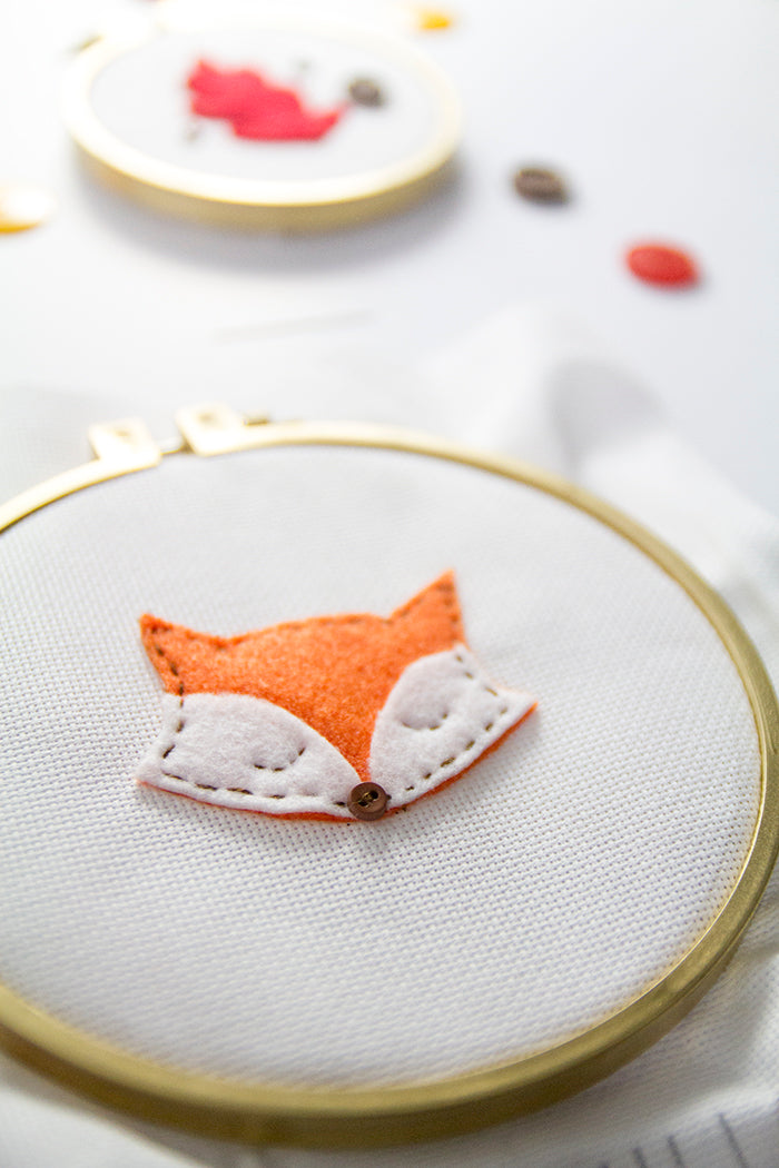 DIY Fall Embroidery Hoop Art Hello Luvvy 10