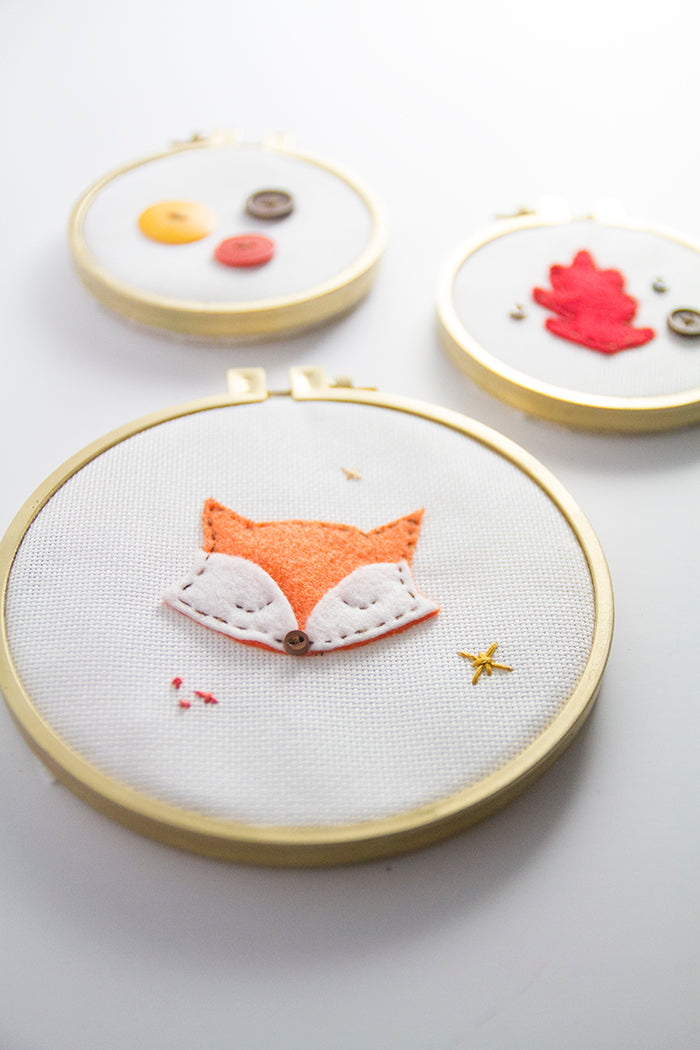 DIY Fall Embroidery Hoop Art Hello Luvvy 15