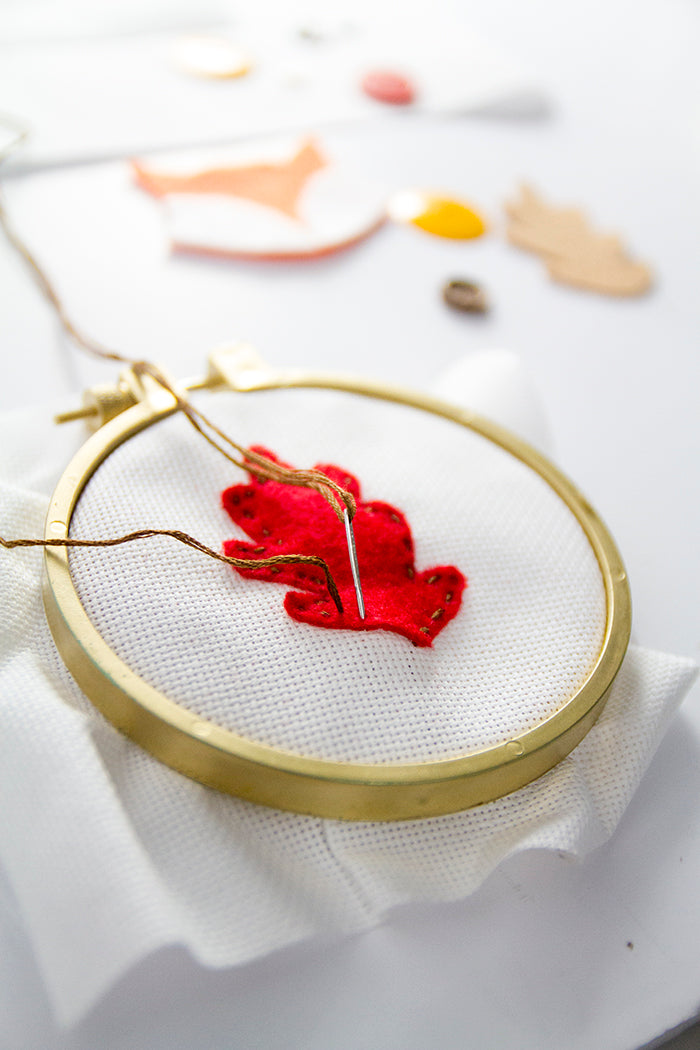 DIY Fall Embroidery Hoop Art Hello Luvvy