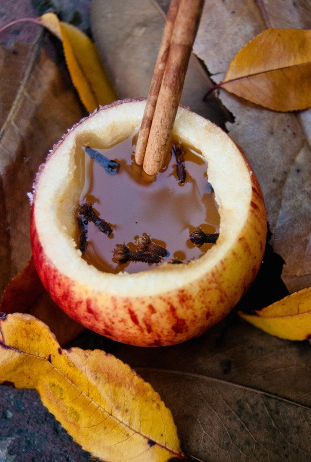 apple cups, apple recipes, cinnamon apple, spiced apple cider, salted caramel apple cider, fall drinks, autumn, autumn cocktails, sea salt caramel apple spice
