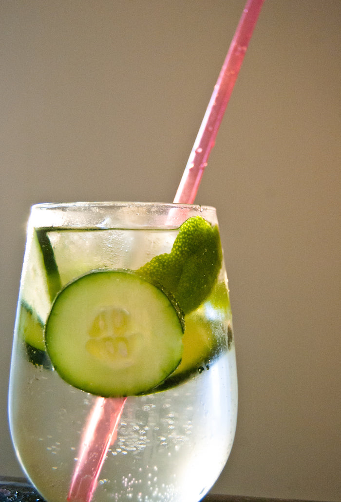 cucumber, lime, melon, spritzers, healthy cocktails, soda free, resolutions, new years