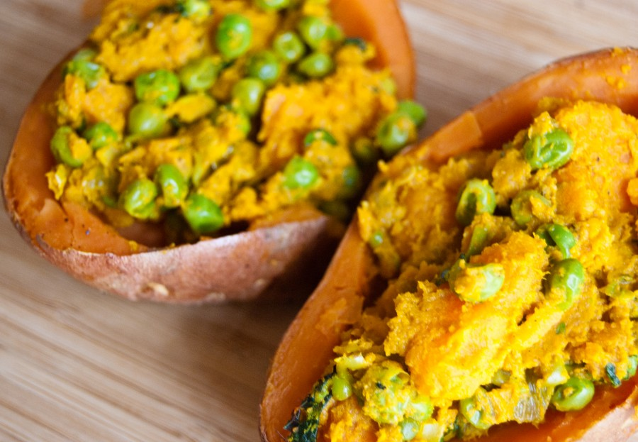 sweet potato samosas, stuffed sweet potatoes, indian inspired dishes, samosas