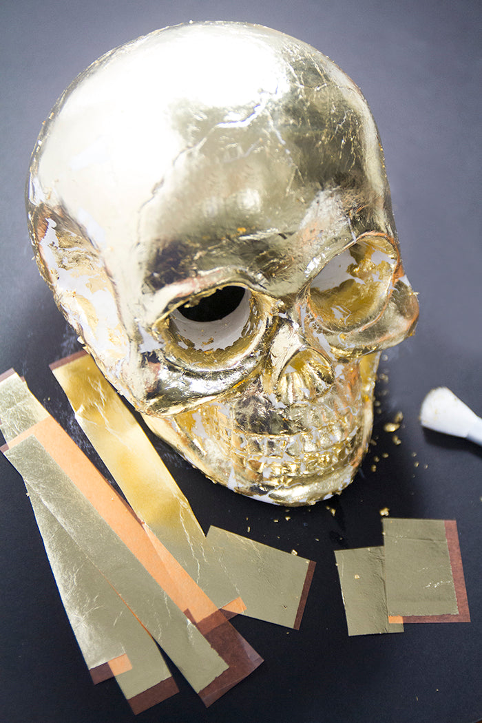 Gold Leaf Skull - Hello Luvvy5