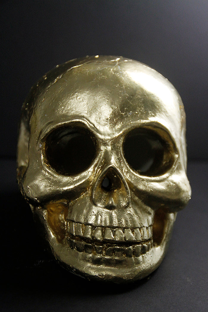 Gold Leaf Skull - Hello Luvvy8