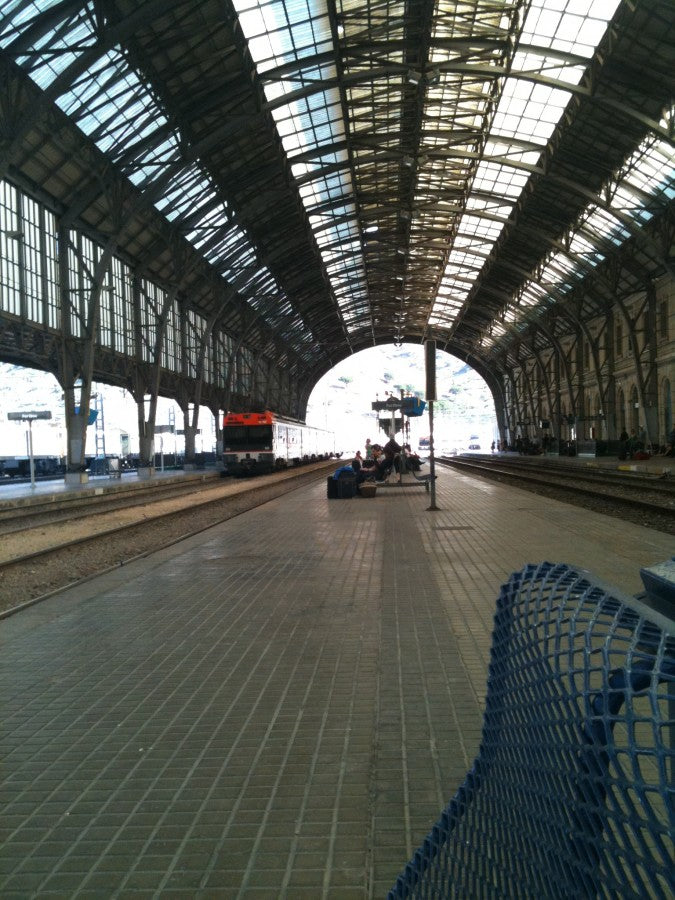 "A lonely train stop in between Spain and France where I was wondering, ""am I in the right place?"""