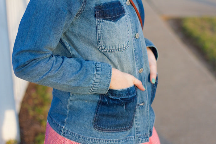 old navy denim jacket, casual weekend-wear,